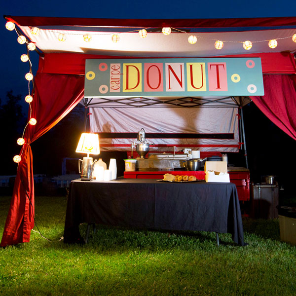 One of our custom catering tents